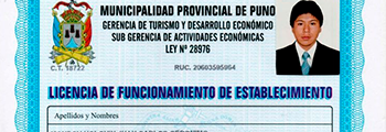 Certificado municipal puno adventures